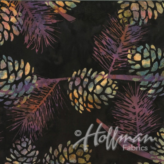 Hoffman Bali Batiks 2132 613 Rustica Purple Pine Reflections By The Yard