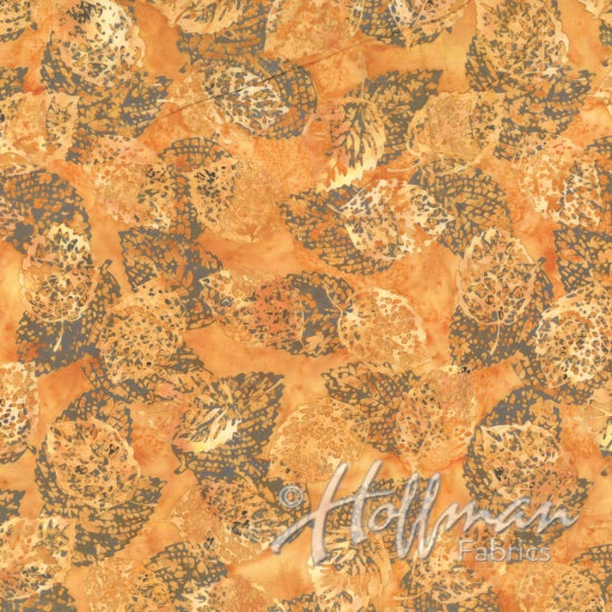 Hoffman Bali Batiks 2133 250  Shadowed Leaves On Sahara By The Yard