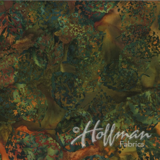 Hoffman Bali Batiks 2133 66 Shadowed Leaves Autumn By The Yard