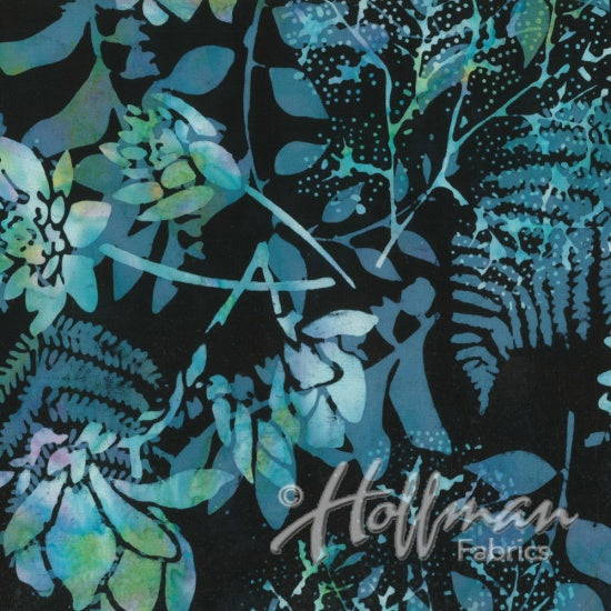 Hoffman Bali Batiks 2140 512 Paradise Flowers And Leaves By The Yard