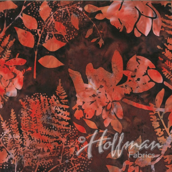 Hoffman Bali Batiks 2140 533 Nightshade Flowers And Leaves By The Yard