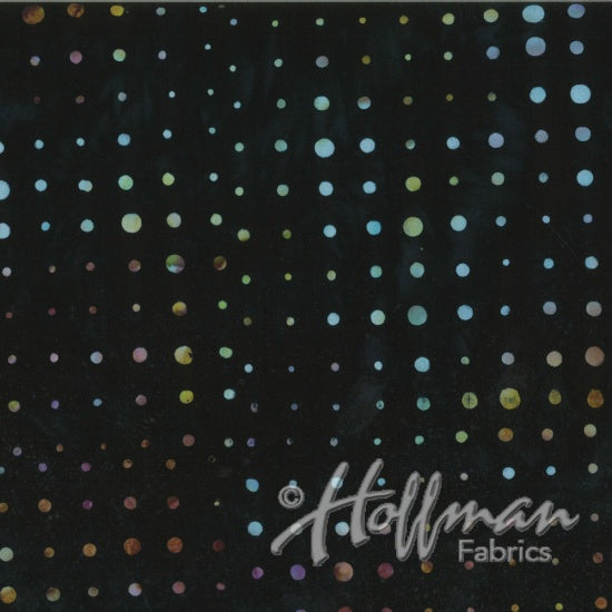 Hoffman Bali Batiks 2144 197 Dots Of Variation Black Grape By The Yard