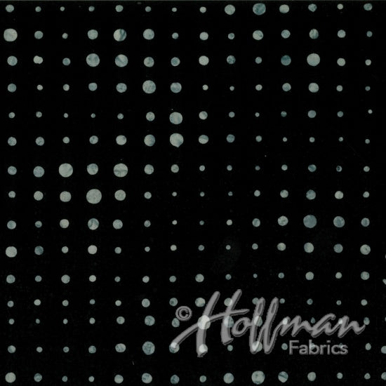Hoffman Bali Batiks 2144 213 Dots Of Variation On Onyx By The Yard