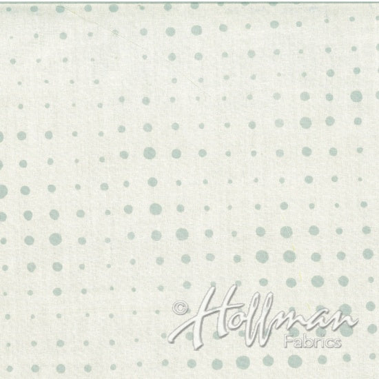 Hoffman Bali Batiks 2144 521 Dots Of Variation Mist By The Yard