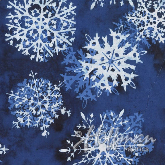 Hoffman Bali Batiks 2159 254 Titanic Snowflakes On Tahiti Blue By The Yard