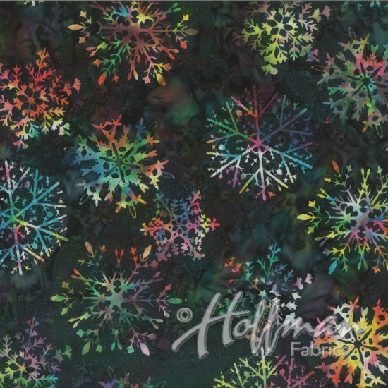 Hoffman Bali Batiks 2159 549 Titanic Snowflakes On Celestials Blue By The Yard