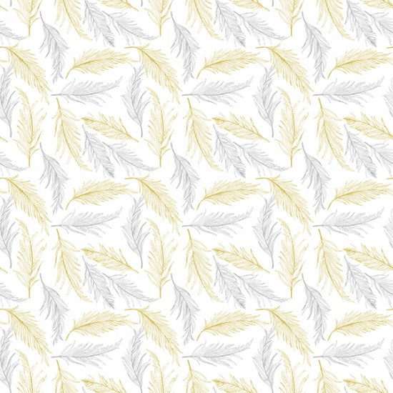 Hoffman Sparkle And Fade 4471 3M Metallic Fern on White By The Yard