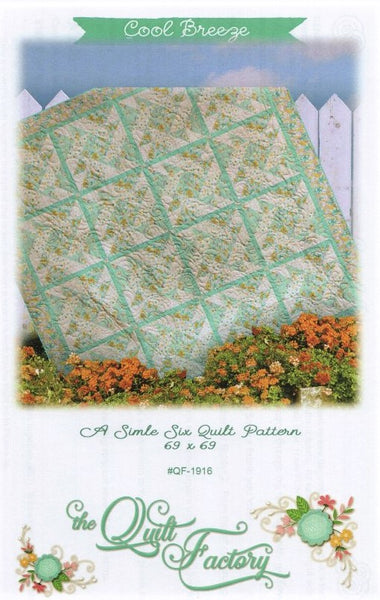 COOL BREEZE - Quilt Pattern QF-1916 By The Quilt Factory