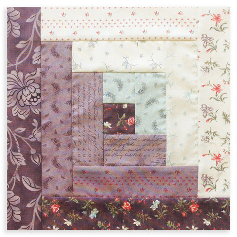 Moda Fabrics Pre-Cut 12 Block Log Cabin Quilt Kit - Quill