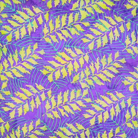 Mirah Bali Batik Rivera RI 9 1280 Moderna Violet Fronds By The Yard