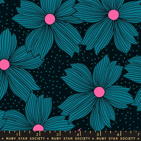 Moda Ruby Star Society Crescent RS2004 12 Teal Night Bloom By The Yard