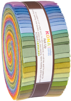 Kaufman Kona Cotton Pre-Cuts 41 Piece Roll Up 229 41 - New Dusty Palette