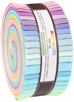 Kaufman Kona Cotton Pre-Cuts 41 Piece Roll Up 230 41 - New Pastel Palette