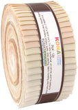 Kaufman Kona Cotton Pre-Cuts 40 Piece Roll Up RU 428 40 - Not Quite White