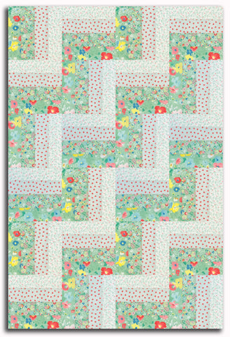 Moda Pre-Cut 24 Block Rail Fence Quilt Kit - Gypsy Soul