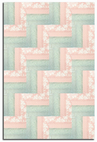 Moda Pre-Cut 24 Block Rail Fence Quilt Kit - Rue 1800