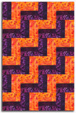 Kaufman Artisan Batiks Pre-Cut 24 Block Rail Fence Quilt Kit - Waiting For The Sun