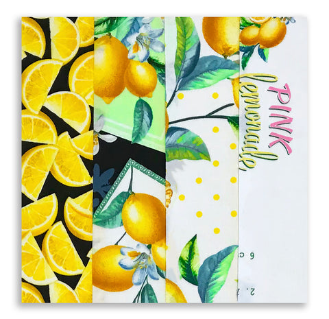 Kanvas Pre-Cut 24 Block Rail Fence Quilt Kit - Lemon Fresh