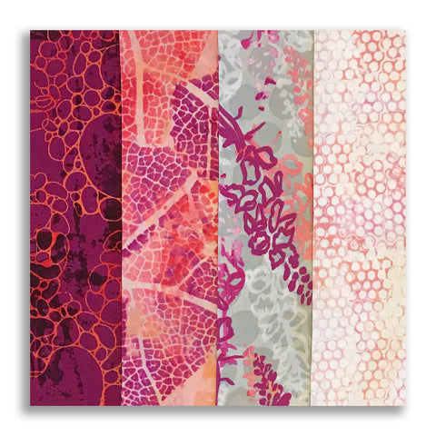 RJR Pre-cut 24 Block Rail Fence Quilt Kit - Urban Garden Salmon