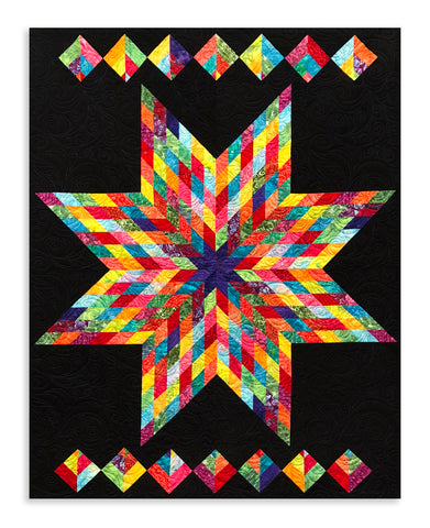 Hoffman Bali Batik Video Bundle - Rainbow Lone Star Quilt Kit