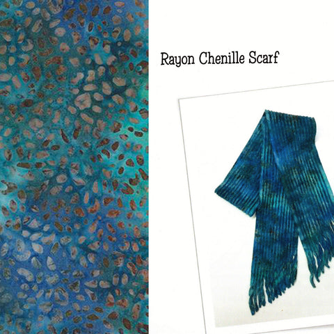 Sew Batik Pre-Cut Rayon Chenille Scarf Kit - Animal Skin Lake