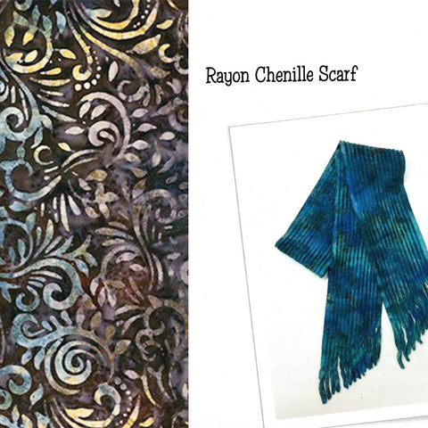 Sew Batik Pre-Cut Rayon Chenille Scarf Kit -  Phoenix Brown Bark