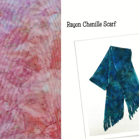 Sew Batik Pre-Cut Rayon Chenille Scarf Kit - Spray Party Time