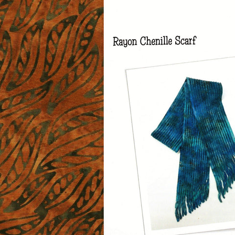 Sew Batik Pre-Cut Rayon Chenille Scarf Kit - Wisp Brown Bark