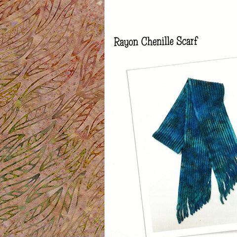 Sew Batik Pre-Cut Rayon Chenille Scarf Kit - Wisp Early Autumn