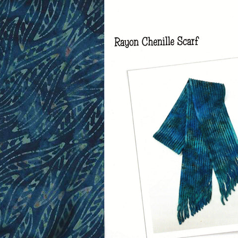 Sew Batik Pre-Cut Rayon Chenille Scarf Kit - Wisp Night Shadow