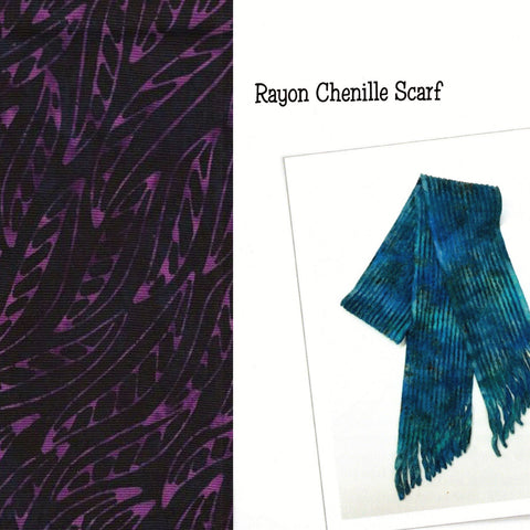 Sew Batik Pre-Cut Rayon Chenille Scarf Kit - Wisp Purple Magic