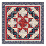 Moda Portsmouth Pre-Cut 12 Block Log Cabin Quilt Kit - Blue Port