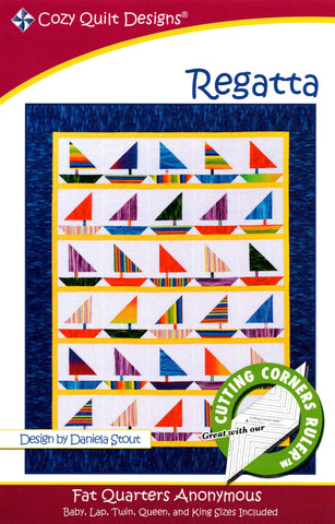 REGATTA - Cozy Quilt Designs Pattern DIGITAL DOWNLOAD