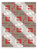 Moda Winter Christmas PRE-CUT 12 Block Log Cabin Quilt Kit - Return to Winter's Lane