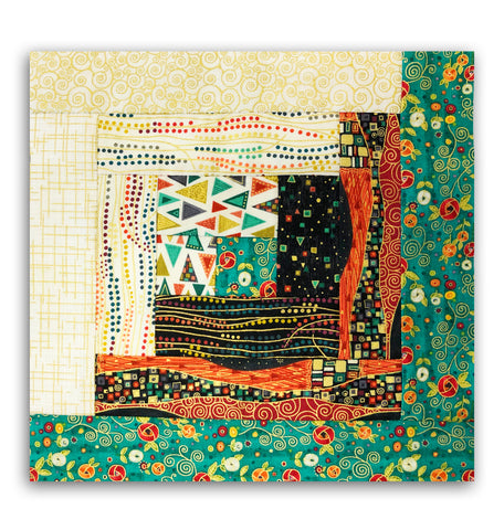 Makower UK Pre-Cut Log Cabin Quilt Kit - Rhapsody Warm
