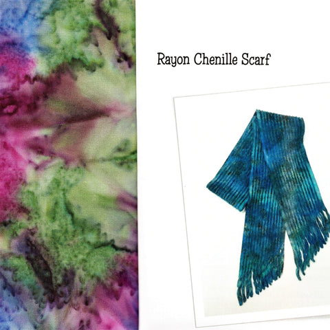 Sew Batik Pre-Cut Rayon Chenille Scarf Kit -  Spray River Berry