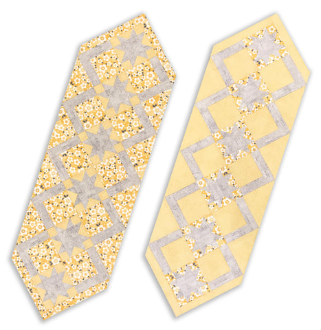 Adorn It VIDEO BUNDLE Sunshine & Shadows Cozy Table Runner kit - Daisy Array