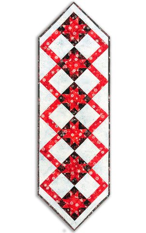 Kaufman Batiks VIDEO BUNDLE Silver Metallic Cozy Table Runner Kit - Snowflakes
