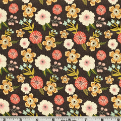 Poppie Cotton Prairie Sisters - Ruth's Flowers Grey By The Yard