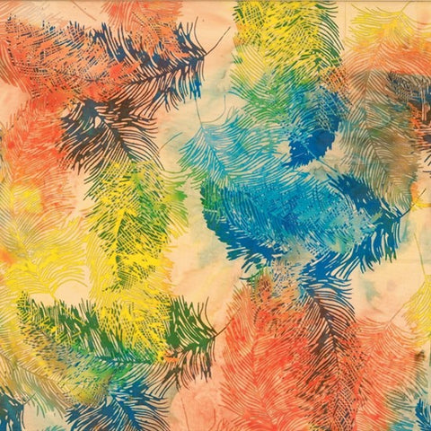 Hoffman Batik Primary Paradise 2294 151 Sunset Feathers By The Yard