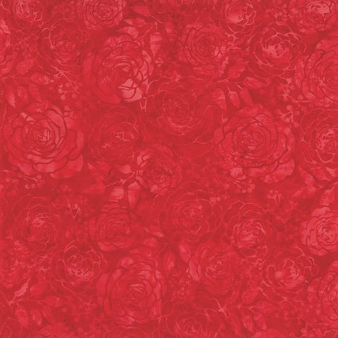 Hoffman Batik Primary Paradise 2297 403 Cherry Roses By The Yard
