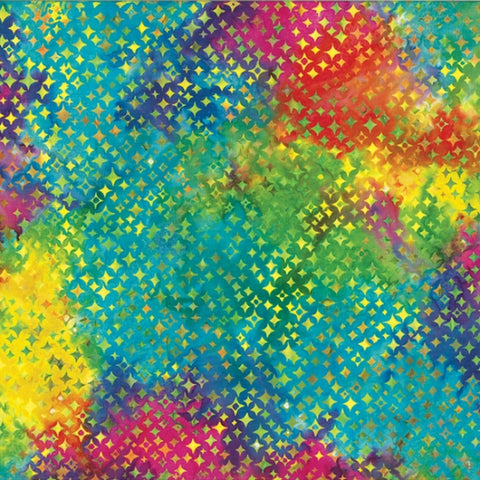 Hoffman Batik Primary Paradise 2306 130 Multi Stars By The Yard