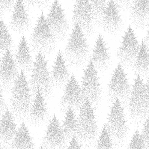 Hoffman Metallic Sparkle And Fade 4701 3S White Evergreens By The Yard