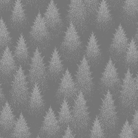 Hoffman Metallic Sparkle And Fade 4701 76S Pewter Evergreens By The Yard