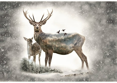 "Hoffman Call Of The Wild 4727 112 Dawn Of Winter 30"" Panel By the Panel (not by the yard)"