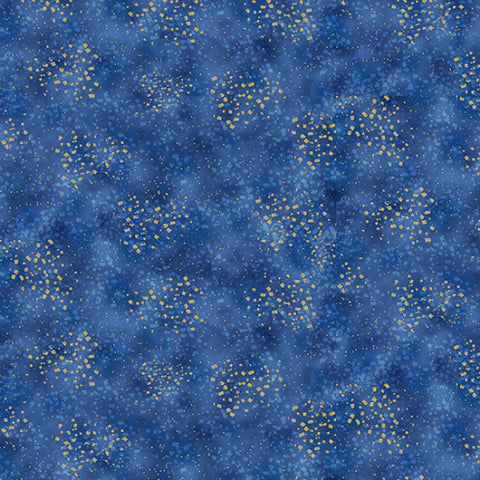 Hoffman Graceful Garden 7734 18G Royal/Gold Speckled Spray By The Yard