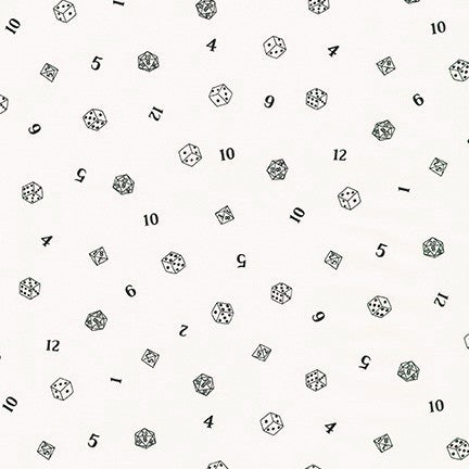 Kaufman Pleasures And Pastimes SB 850298D2 1 White Roll Of The Dice By The Yard