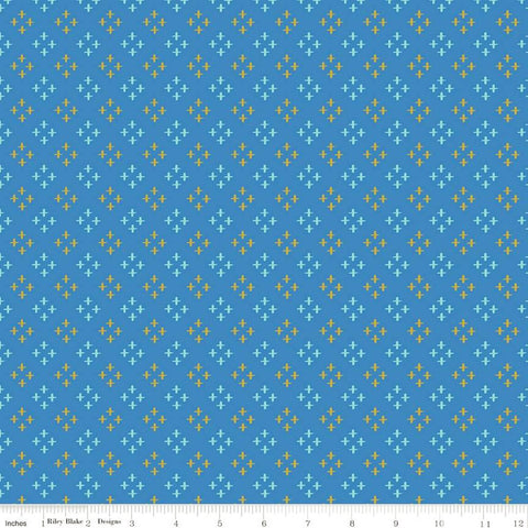 Riley Blake Metallic Sweet Honey Kisses SC8963 Blue Stars by the yard