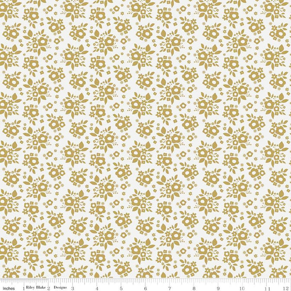 Riley Blake Metallic A Little Bit Of Sparkle SC8984 White Bouquet By The Yard
