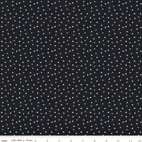 Riley Blake Metallic A Little Bit Of Sparkle SC8986 Black Scatter By The Yard